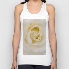 Rose White Unisex Tank Top