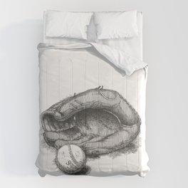 Baseball by James Skistimas Comforters