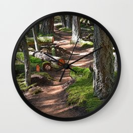 ON THE ORCAS ISLAND FOREST TRAIL TO TURTLEHEAD Wall Clock