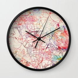 Lakewood map New Jersey painting Wall Clock