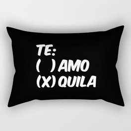 Tequila or Love - Te Amo or Quila (Black & White) Rectangular Pillow