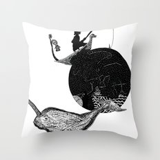 Narwhal In Space Throw Pillow