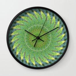 Palm Frond Kaleidoscope Wall Clock