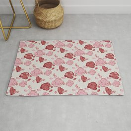 Roses pattern 3a Rug
