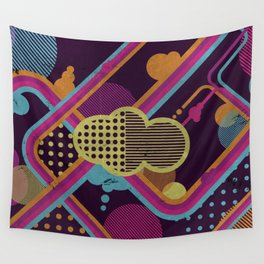 Funky Cloud Wall Tapestry