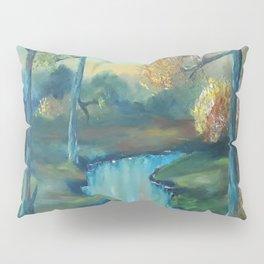 Autumn is Here, Original Contemporary Oil Painting, Original Modern Art, landscape, Luna Smith Pillow Sham