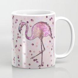 Glamorous Flamingo pink and rose gold sparkle Coffee Mug