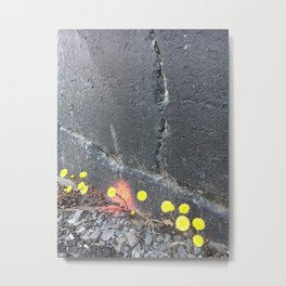Yellow Pops Metal Print