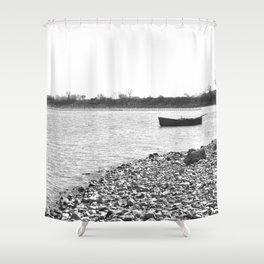 Lakescape Monochrome Shower Curtain