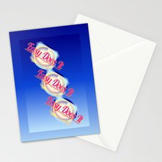 EASY DOES IT logo style Stationery Cards
