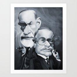 Sigmund Freud and Carl Jung Art Print