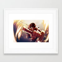 zuko Framed Art Prints featuring Zuko by Matereya