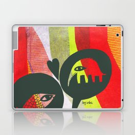 Love between elephants and fishes. Laptop & iPad Skin
