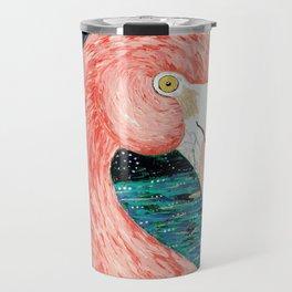Starry Flamingo Travel Mug