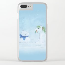 Snow Pets Clear iPhone Case