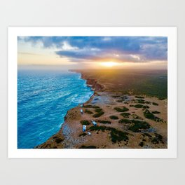 Sunset on the Nullabor, South Australia (landscape style) Art Print