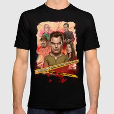 Dexter Black LARGE Mens Fitted Tee