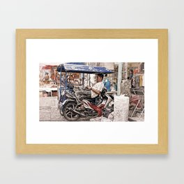 Market Life. Framed Art Print