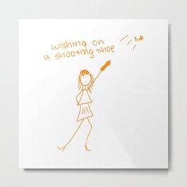 Wishing on a Shooting Shoe Metal Print
