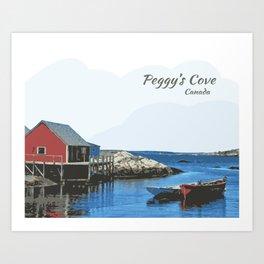Peggy's Cove Art Nova Scotia Canada Art Print