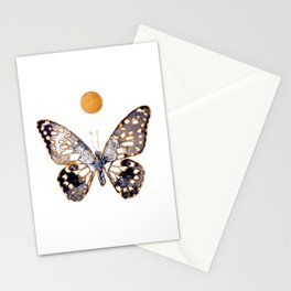 Butterfly / Black and Gold Stationery Cards