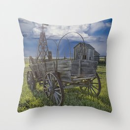Frontier Farm No 235 Throw Pillow