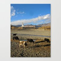 china Canvas Prints featuring china by d.t.magee
