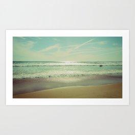 Beach Caparica Art Print