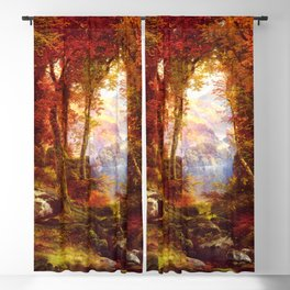 Under The Trees 1865 By Thomas Moran | Natural Wildlife Scenery Reproduction Blackout Curtain