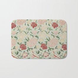 William Morris Cray Floral Pre-Raphaelite Vintage Art Nouveau Pattern Bath Mat