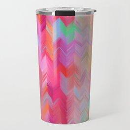 Colorful painted chevron pattern - pink, purple, yellow, orange Travel Mug