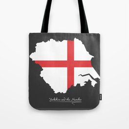 Yorkshire and the Humber map with flag of England illustration Tote Bag