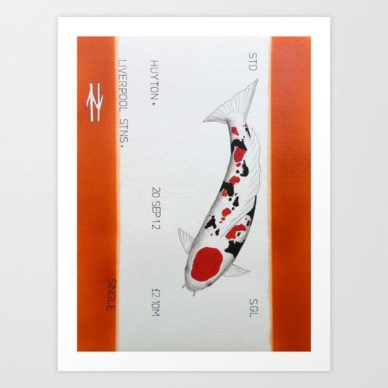 One way Koi  Huyton to Liverpool Art Print