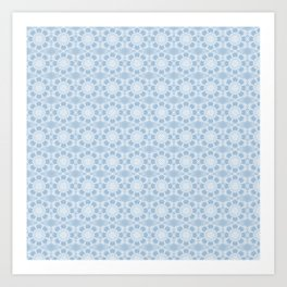 Project 503 | White Lace on Periwinkle Art Print