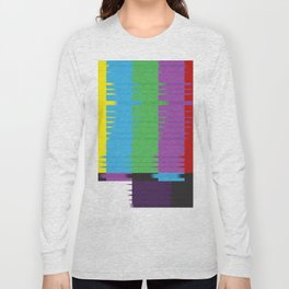 color tv bar#glitch#effect Long Sleeve T-shirt