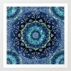 Lapis Lazulli Mandala Art Print