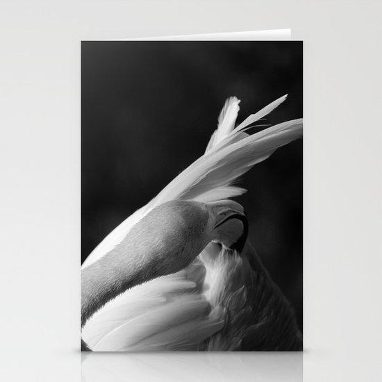 Pink Flamingo ballet dancer Stationery Cards
