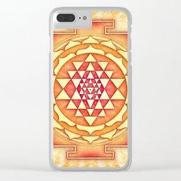 Sri Yantra XVI Clear iPhone Case