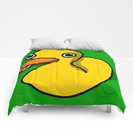 Drunk Duck | Veronica Nagorny Comforters