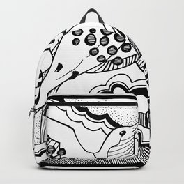 Swallows in the clouds Backpack
