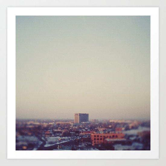 Morning Over Detroit Art Print