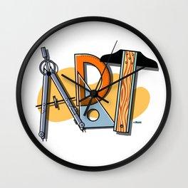 A-R-T Spells Art! Wall Clock