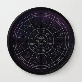 Zodiac Map Wall Clock