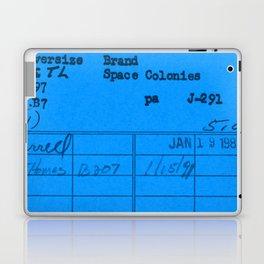 Library Card 797 Blue Laptop & iPad Skin