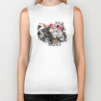 motorcycle Biker Tanks featuring Motorcycle by ron ashkenazi