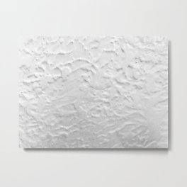 White Textured Wall Metal Print
