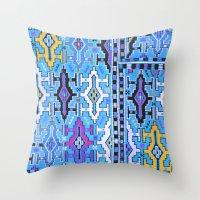 kilim Throw Pillows featuring Aztec Kilim by EllaJo Design