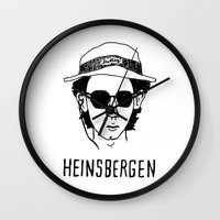 the royal tenenbaums Wall Clocks featuring Heinsbergen (Royal Tenenbaums/Breaking Bad) by Tabner's