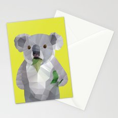 Koala with Koalafication Polygon Art Stationery Cards