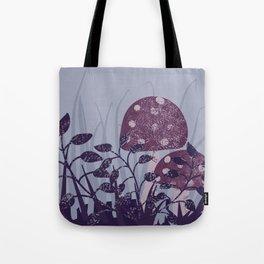 purple toadstools vector illustration Tote Bag
